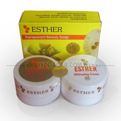 Esther Whitening Cream S-M + Sabun Esther (Original)