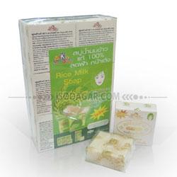 Sabun Susu Beras Thailand (Kemasan Kotak) - 1 Lusin